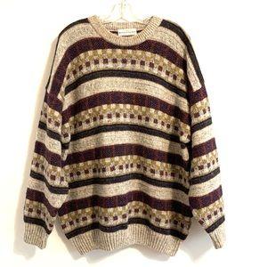 Mackinnon of Scotland Vintage Stripe Wool Sweater